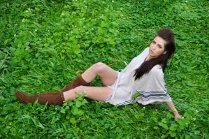 Laying in the grass by marissamartha