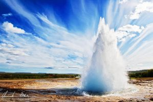 Strokkur II, Iceland by Nightline