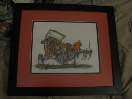Old Tractor - Framed - full shot by ownerfate
