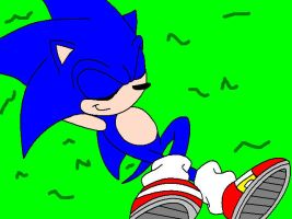 relaxed sonic by SonicxLover2468