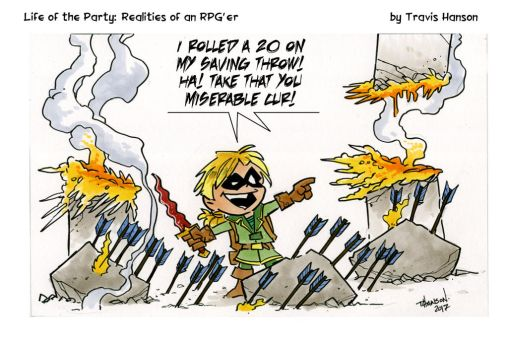 In your face! Lotp rpg comic by travisJhanson