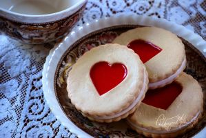 Polymer Linzer cookies by piggy-tails