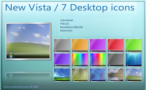 Windows 7 Vista desktop icons by tonev