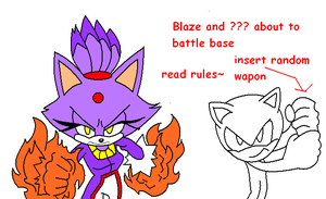 Battle with Blaze the cat base by Angelbehindthemask
