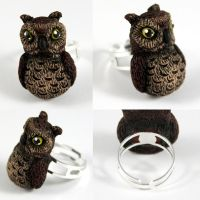 Owl Ring by NeverlandJewelry