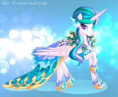 Celestia as Ice Queen by fantazyme