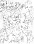 Young Justice CD Artemis by nathanscomicart