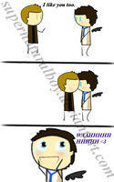 Destiel Comic The confession part2 by supernaturalboy