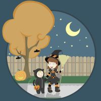 Brother and Sister Halloween by JessicaElephant