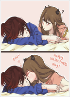 Happy Valentines Day, idiot. by xPoisonsugar