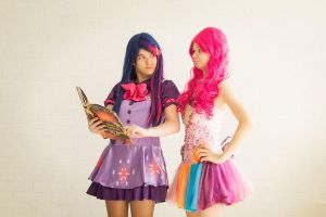 Twilight Sparkle and Pinkie Pie by Laura-Row