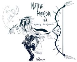 Smite - Native American Neith by Zennore