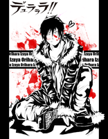 DRRR: Bloodstained Izaya by Kiriye