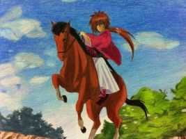 kenshin ride horse by eve1789