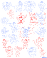 Sketch Dump on DA - Round 5. by Atariboy2600