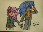 AT: Amy and Sonic by ripjaws-girl21