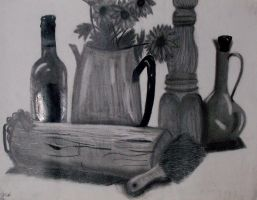 Still Life Drawing by NacOfTheStoneAge