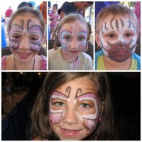 face-painted butterflies by Sea468
