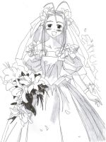 Naru in a Wedding Gown by HurricaneChris