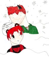 Leo was so cold his hair turned red [Secret Santa] by ALEXGOESBOOM
