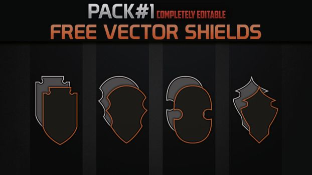 FREE Shield Vector Pack#1 by Tr3Angel