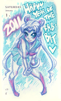 Happy 2011 Year of The Rabbit by peach-mork