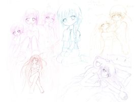 OLD unfinished sketches by kyu-erien