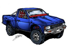 Nissan Truck Sketch by HaMBoNE79