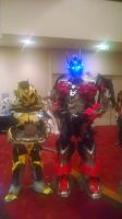 Aoe Optimus Prime And Bumblebee Cosplay by Lilscotty