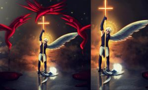 DGM Red angels by Delila2110