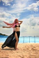 VOCALOIDS At The Beach- Luka by mauve-taupe