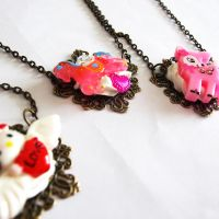 Whipped Cream Necklaces by AndyGlamasaurus