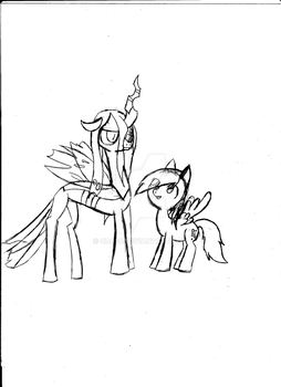 Crisalis and Derpy by odase