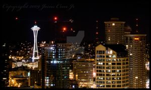 Seattle at Night Mar 09 I by urnightmare