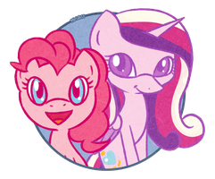 Lil Pinkie and Cadence by PrettyKitty
