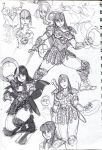 Xena sketches 01 by oh8