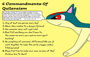 6 Commandments Of Quilavaism by BudCharles