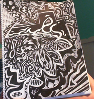 Black and white sharpie drawing by PixelNuggets