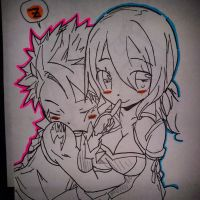 Natsu and Lucy by AMRHeight