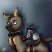 Dogtor and Octabbia by BaldDumboRat