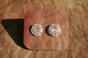 Angel Banishing Sigil Earrings by KouranKiyo