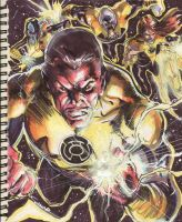 Sketch 15 : Sinestro Corps by Cinar