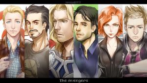 The Avengers Assemble by kanapy-art