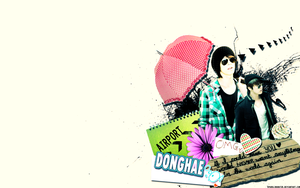 Donghae wallpaper by sparklingwater