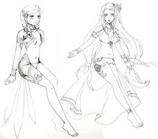 Aeris: character design by leinef