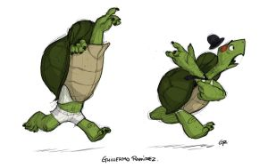 Late turtle by GuillermoRamirez