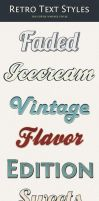 Retro text styles by loreleyyy