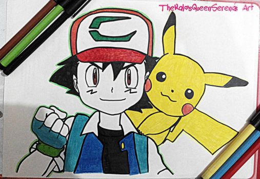 Ash and Pikachu~20th Anniversary-2 by TheKalosQueenSerena