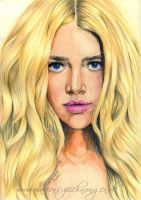 Denise Richards by WitchiArt