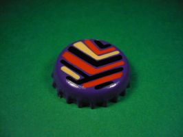 Purple, red, sand and black badge. by elniniodelaschapas